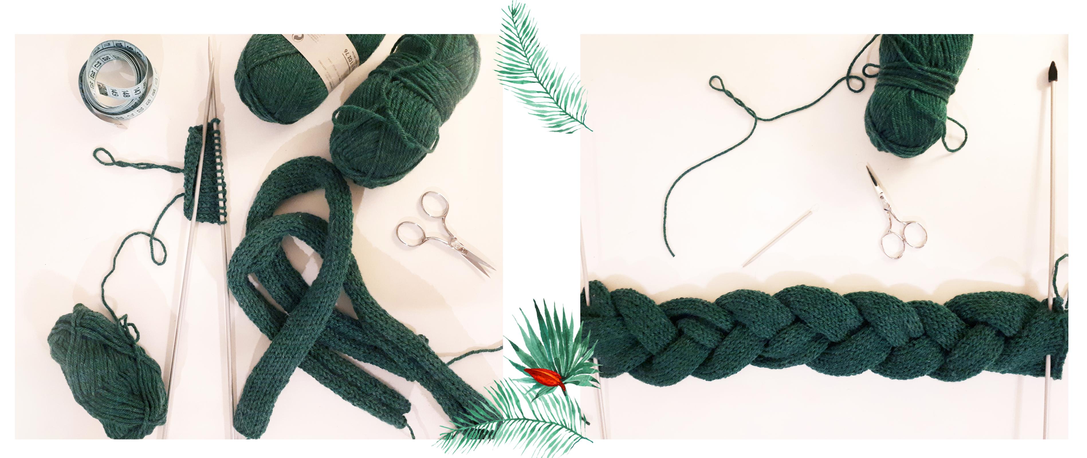 Etape 3-4 - headband tresse