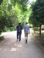 Balade dans le Jardin National à Athènes