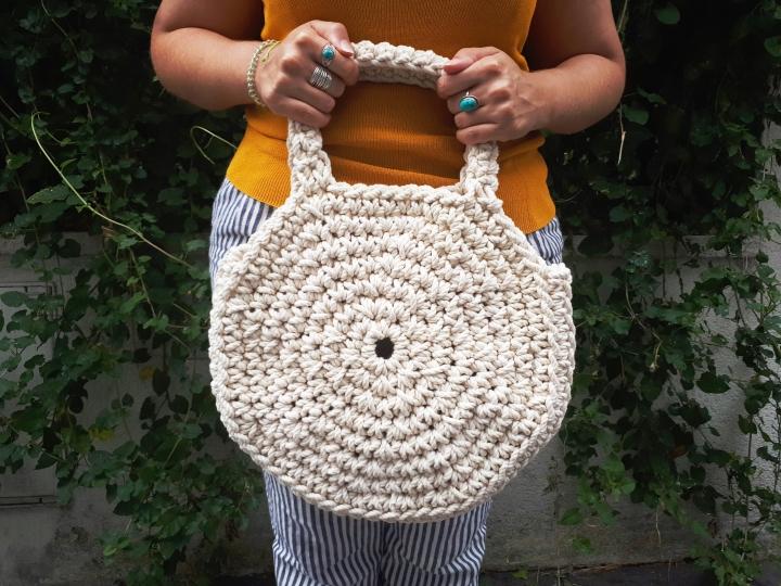 DIY Accessoire #6 – Un sac rond en crochet avec de lacorde